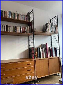 Staples Ladderax Shelving Unit, Large, Black Metal Frame And Wooden Drawers