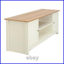 TV Stand Wooden Cabinet Entertainment Unit Corner Table with Drawers Shelf Ottoman