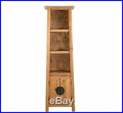 Tall Rustic Cabinet Asian Shelving Unit Bathroom Wooden Storage Vintage Cupboard