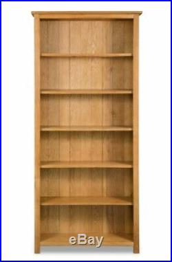Tall Slim Bookcase 6 Tier Book Storage Shelving Display Unit Furniture Wooden