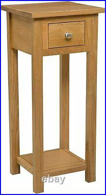 Tall Slim Side End Table Wooden Furniture Cabinet Narrow Drawer Shelf Unit