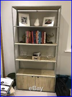 Tall Tim From Loaf-wooden and metal shelves unit