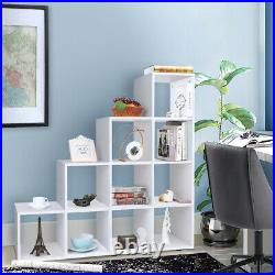 Tall Wide Wooden 10 Cube Bookcase Shelving Display Storage Unit Cabinet Shelves