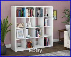 Tall Wide Wooden 16 Cube Bookcase Shelving Display Storage Unit Cabinet Shelves