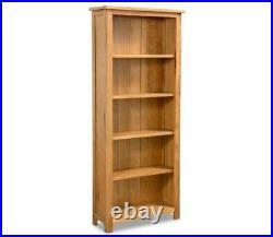 Tall Wooden Bookcase Modern Shelving Display Storage Cabinet Rustic Side Unit