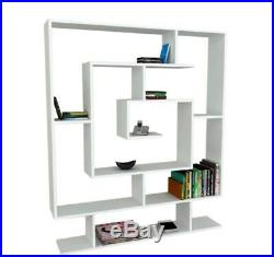 Tall Wooden Bookcase Storage Shelving Unit Modern Book Shelves Office Cabinet