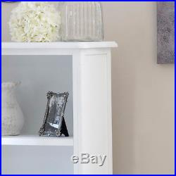 Tall white wooden bookcase shelving drawer storage unit vintage French furniture