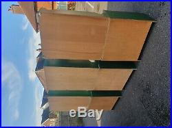 Three Matching Green Wooden Pine Units with Cupboards Drawers and Shelving Sideb