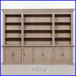 Traditional Extra Large Wooden Display Triple Bookcase Dresser Library