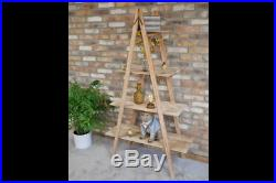 Unique Pyramid Style Wooden Shelving Unit High Quality Home Shelving 5842