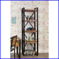 Urban Chic Reclaimed Wooden Alcove Bookcase With 4 Open Shelves