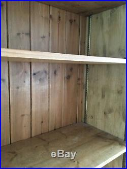 Very Large Pine Wooden Book Shelves Shelving Unit