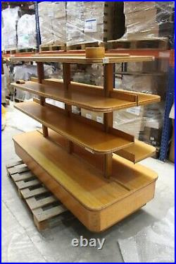 Vintage Haberdashery Outfitters Freestanding Shelving Unit Wooden 360 Bookcase