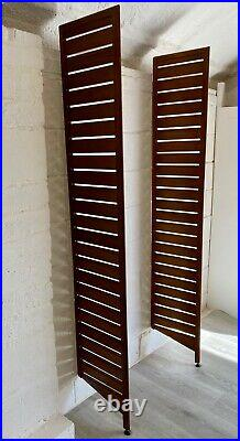 Vintage Ladderax Wooden Ladders (pair) Midcentury 1960s Staples (delivery avail)