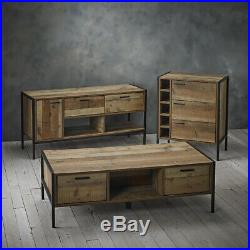 Vintage Rustic Style Wooden Tv Unit With Drawers and shelf