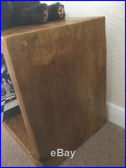 Vinyl Album Record Wooden Storage Cube Rustic Reclaimed Solid Wood (Andywood)