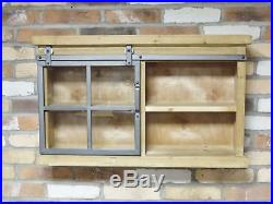 Wall Shelving Unit Display Cabinet Glass Fronted Living Room ...