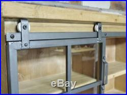Wall Shelving Unit Display Cabinet Glass Fronted Living Room Storage Furniture