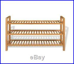 Wide Shoe Rack Large Strong Wooden Organiser Shelf Unit Storage Or Display Stand