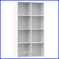 Wooden 8 Cube Bookcase Sideboard Stand Shelving Display Organiser Storage Unit
