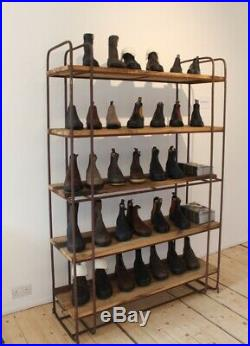 Wooden And Iron Shelving Unit