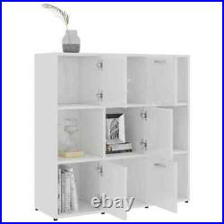 Wooden Bookcase Shelving Display Shelf 9 Cube Storage Unit With Doors Furniture