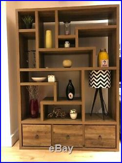 Wooden Display shelving unit. Excellent condition