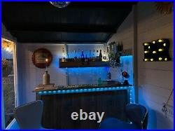 Wooden Home bar Man cave set with wooden bar optics and alcohol shelving unit