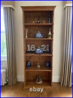Wooden Pine Tall Bookcase / Shelves Used, Good Condition