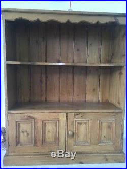 Wooden Shelving Unit With Cupboard At Bottom