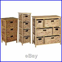Wicker Basket Drawers Large Chest