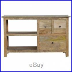 Wooden TV Stand / Media Unit with 3 Drawers, 2 Shelves- Solid Wood, Hand Crafted