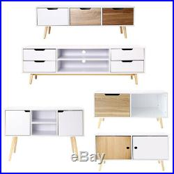 Wooden TV Unit Cabinet Stand Cupboard Storage Sideboard Bedroom Drawers Unit NEW