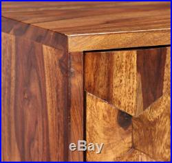 Wooden TV Unit Stand Cabinet Large Shelves Media Storage Solid Wood Retro New