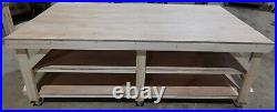 Wooden Work Bench Eucalyptus Hardwood Plywood Top 3FT & 4FT Wide With Wheels