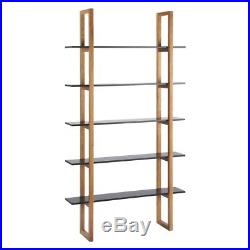 Wooden book shelves used x2