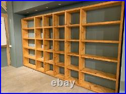 Wooden shelving unit used