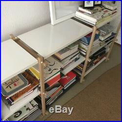 Woody Shelving Unit by HAY (Denmark) wooden frame with enamelled metal shelves